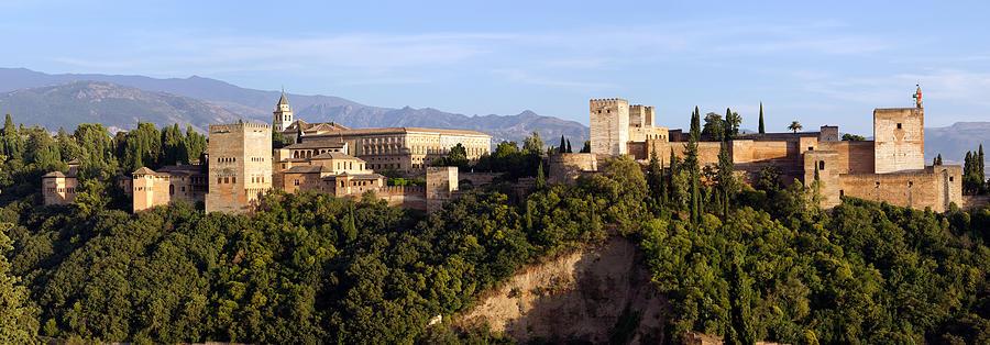 Alhambra Photograph - La Alhambra Panorama by Francesco Riccardo  Iacomino