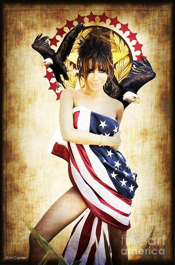 Digital Mixed Media - La Americana by D H Carter