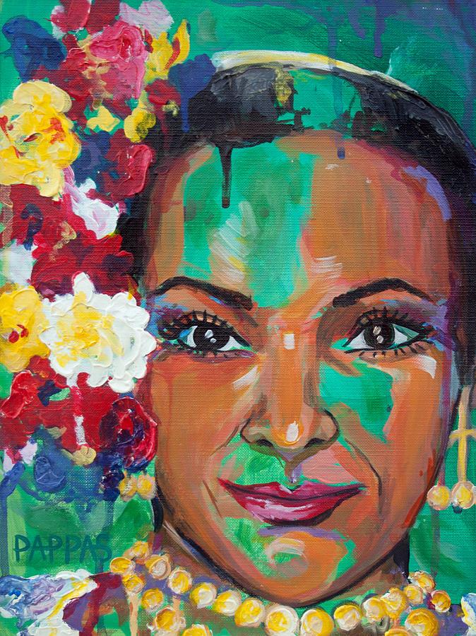 Painting Painting - La Bailarina by Julia Pappas
