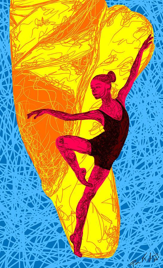 Ballerina Artwork Painting - La Ballerina Du Juilliard by Kenal Louis