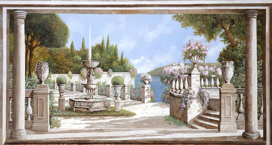 Fountain Painting - La Bella Fontana by Guido Borelli
