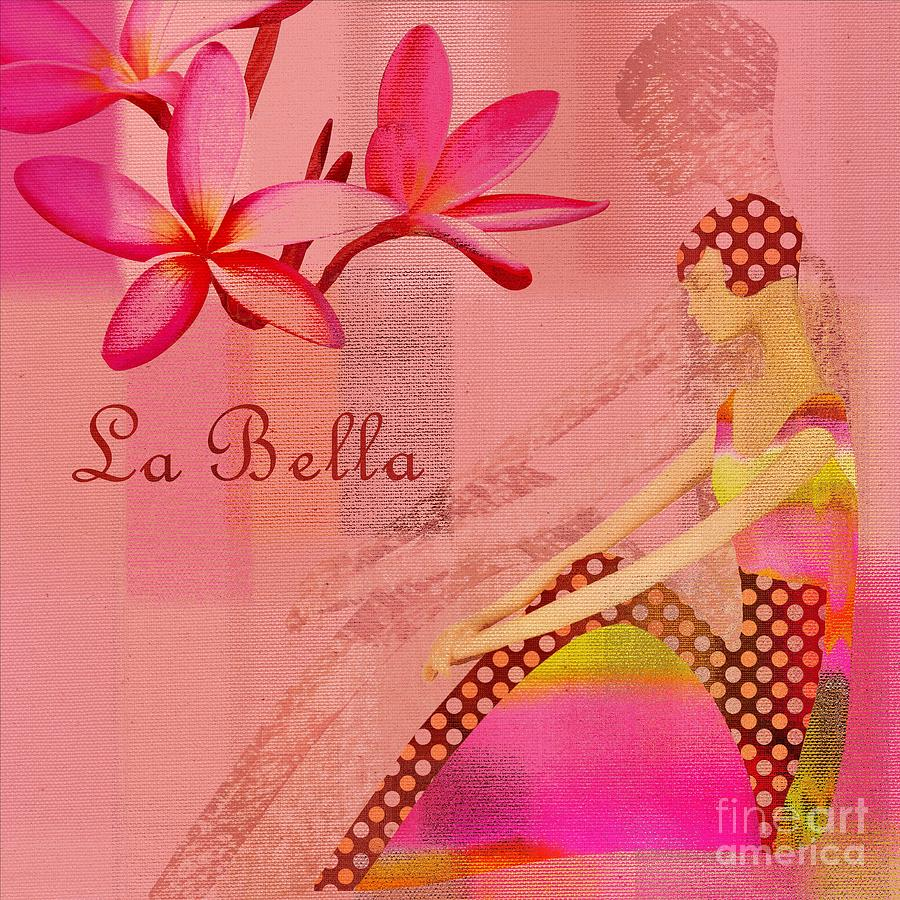 Pink Digital Art - La Bella - Pink - 064152173-01 by Variance Collections