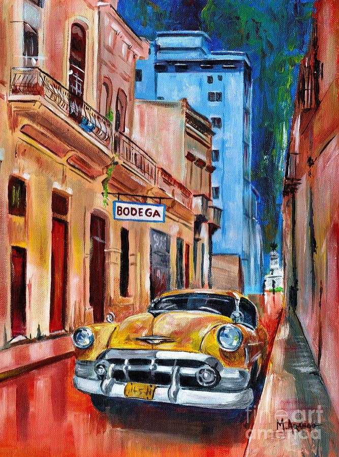 Cuba Painting - La Bodeguita by Maria Arango