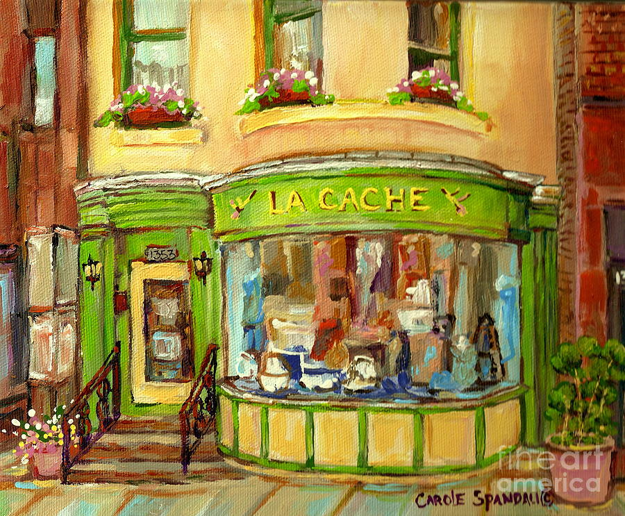 La Cache Boutique On Greene Beautiful Paintings Storefronts Street