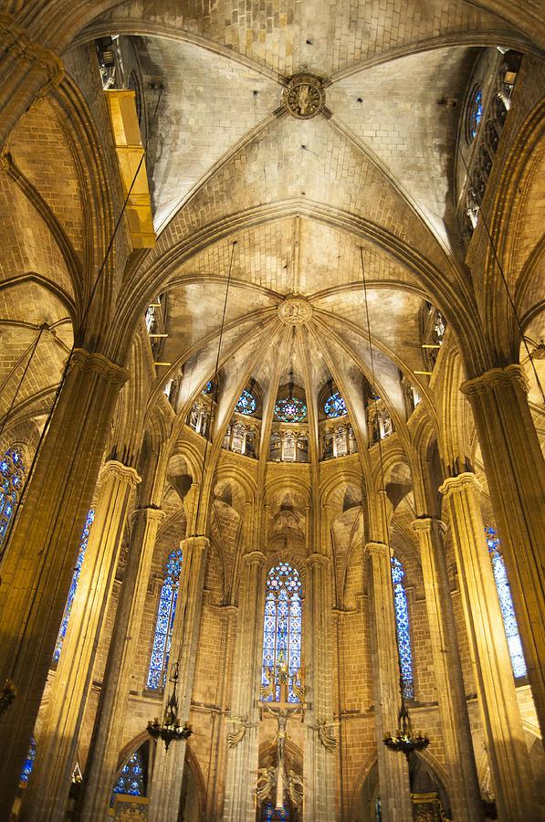 La Catedral Photograph - La Catedral Barcelona Cathedral by Matthias Hauser