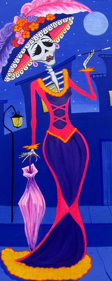 Catrina Painting - La Catrina by Evangelina Portillo