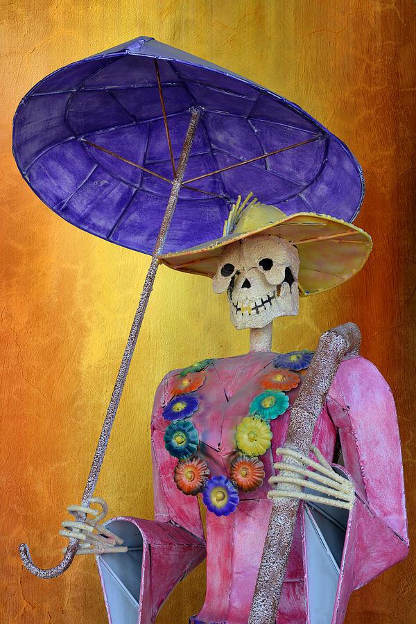 La Catrina with purple Umbrella by Christine Till