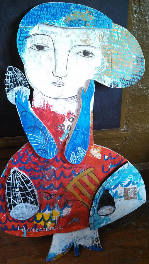 Acrylic Mixed Media - La Coleccionista by Thelma Lugo