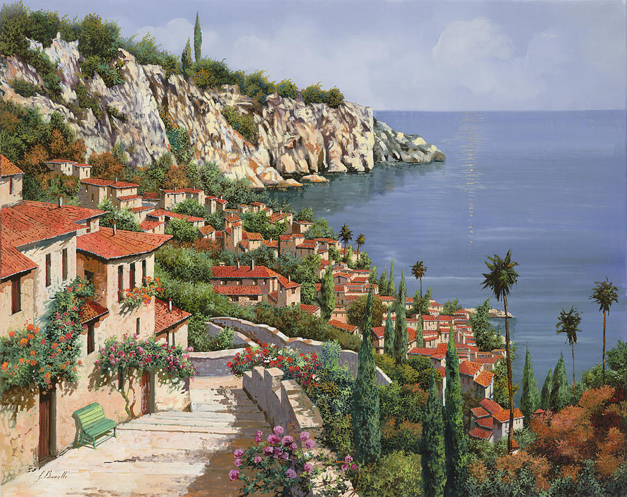 Seascape Painting - La Costa by Guido Borelli