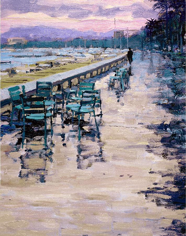 Sea Shore Painting - La Croisette by Michael Swanson