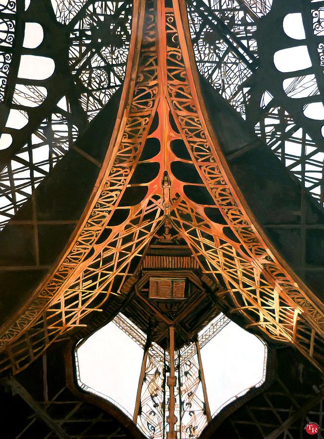 Paris Eiffel Tower Painting - La Dame De Fer by Tom Roderick