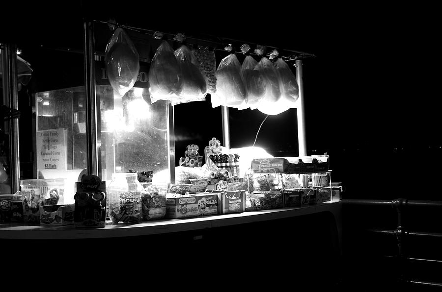 Santa Monica Pier Photograph - La Dolce Notte by Chiara Corsaro
