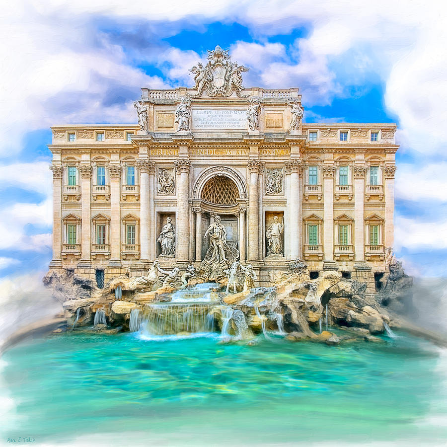 Trevi Mixed Media - La Dolce Vita - The Trevi Fountain In Rome by Mark E Tisdale