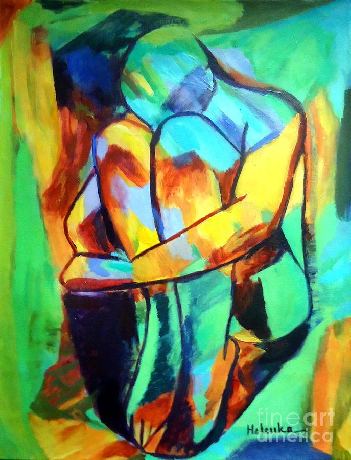 Nude Figures Painting - La Douleur De Vivre by Helena Wierzbicki