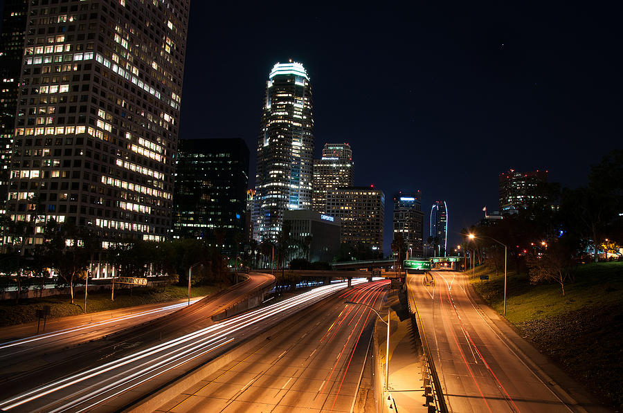 Los Angeles Photograph - La Down Town by Gandz Photography