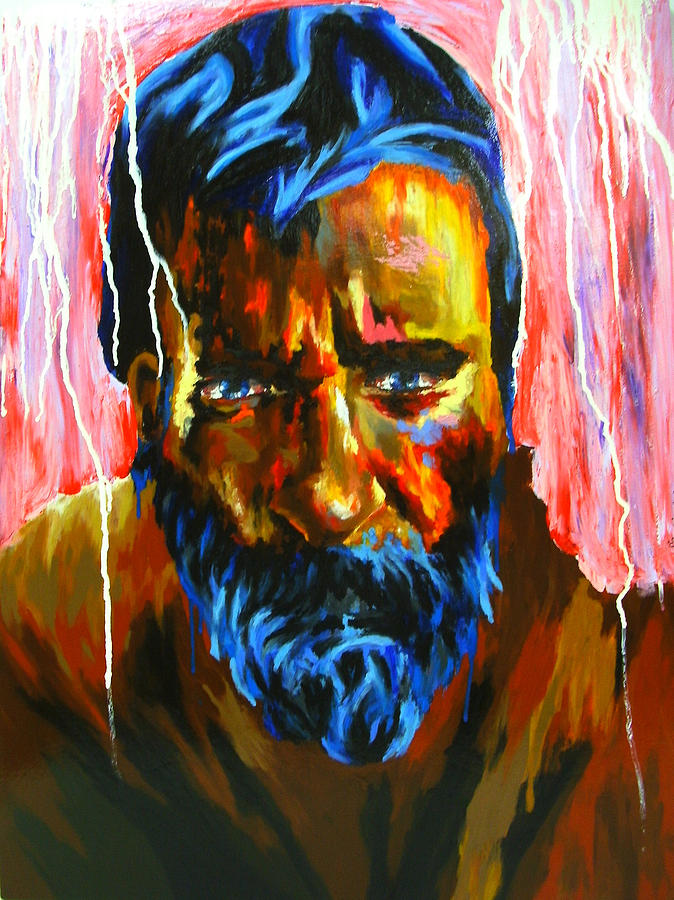 Oil Pastels Painting - La Faim Du Lyon by Bazevian