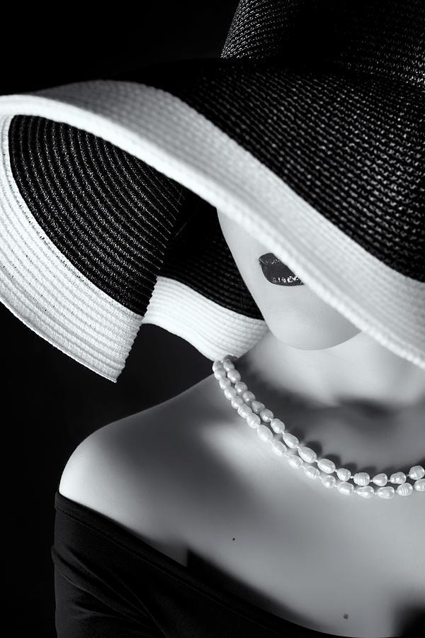 Bw Photograph - La Femme Au Chapeau by Ruslan Bolgov (axe)