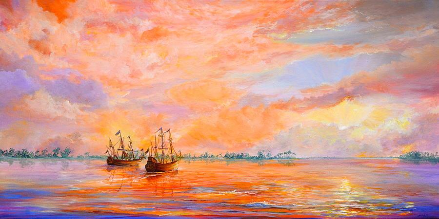 Acrylic Painting Painting - La Florida by AnnaJo Vahle