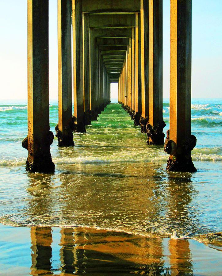 Ocean Photograph - La Jolla California Ocean Pier by Christine Bell