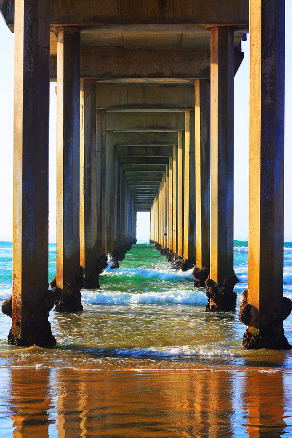 Ocean Photograph - La Jolla California Pier by Christine Bell