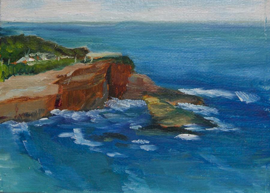 Landscape Painting - La Jolla Cove 023 by Jeremy McKay