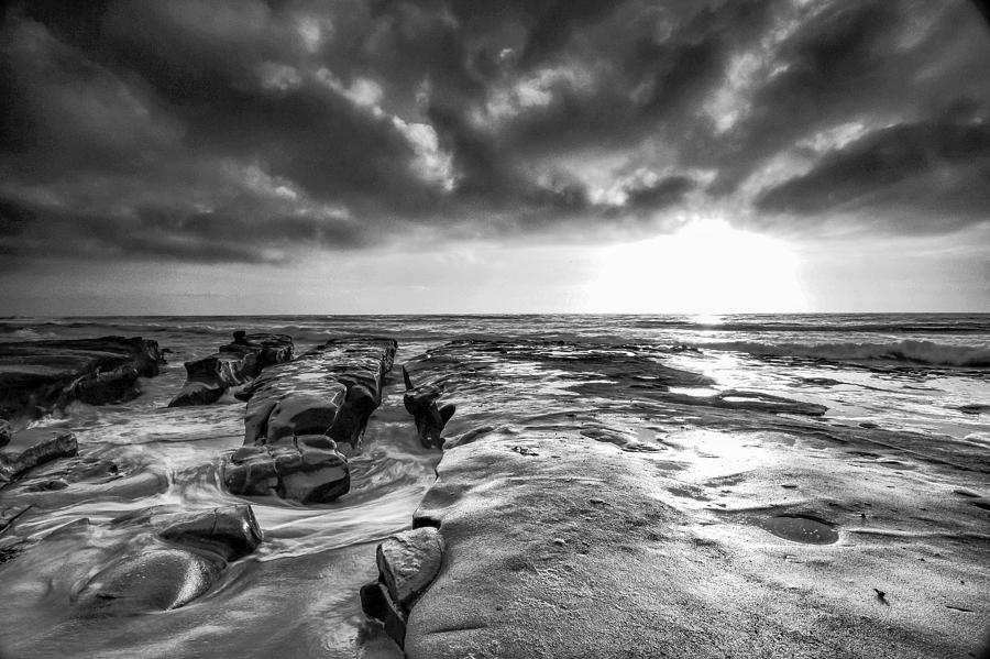 Ocean Photograph - La Jolla In Black And White by Robert  Aycock