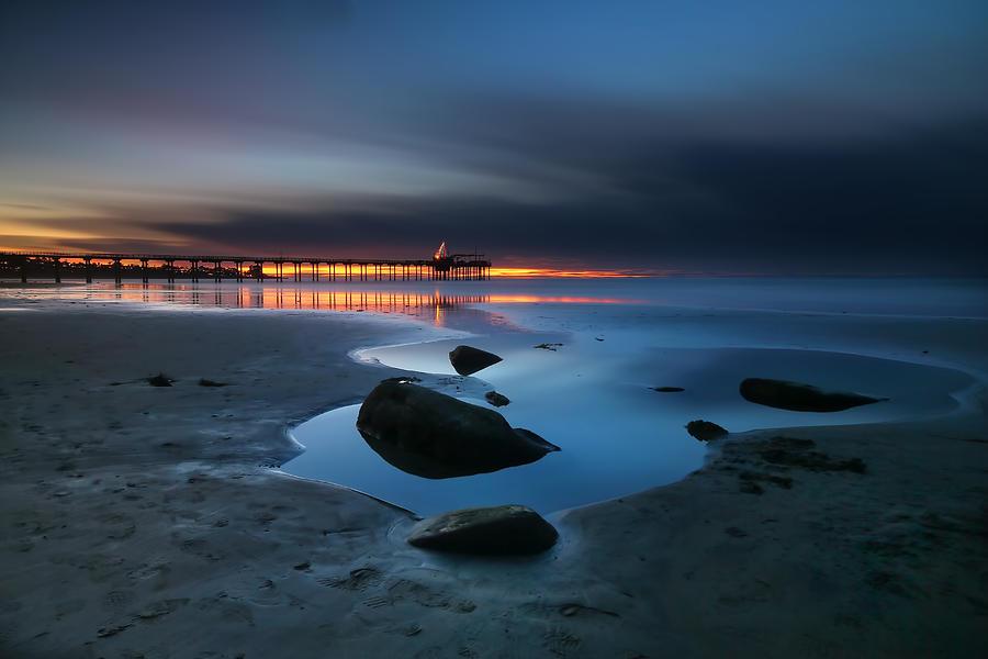 Sun Photograph - La Jolla Sunset 7 by Larry Marshall