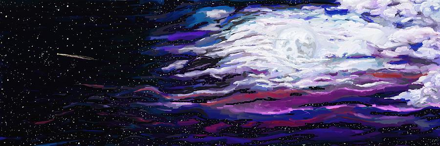 Night Painting - La Luna 4 by Jeanne Fischer