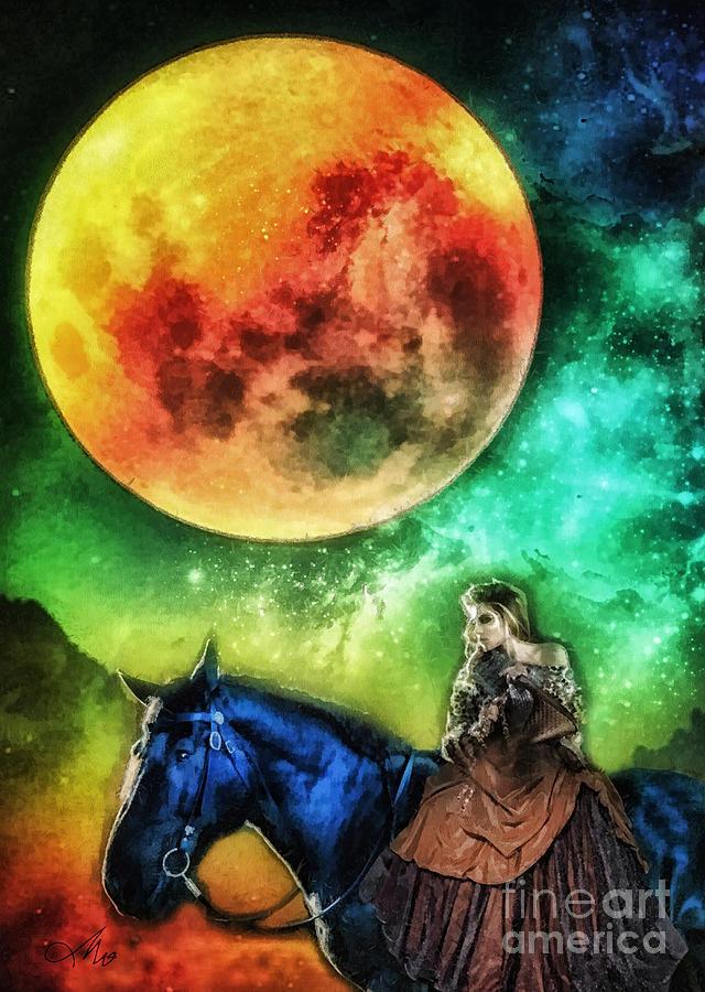 La Luna Digital Art - La Luna by Mo T