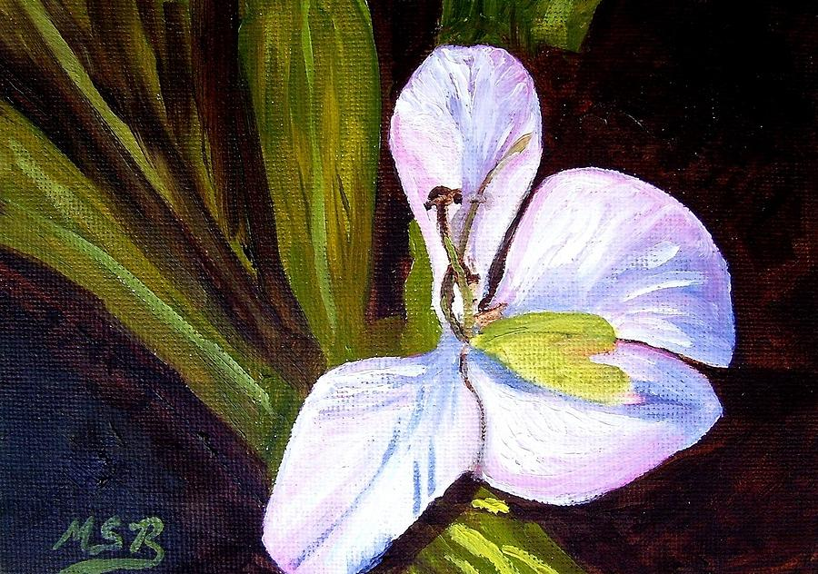 Cuban Flower Painting - La Mariposa 2 by Maria Soto Robbins