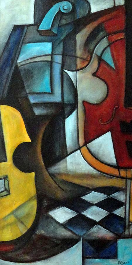 Abstract Painting - La Musique 1 by Valerie Vescovi