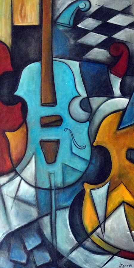 Music Painting - La Musique 2 by Valerie Vescovi