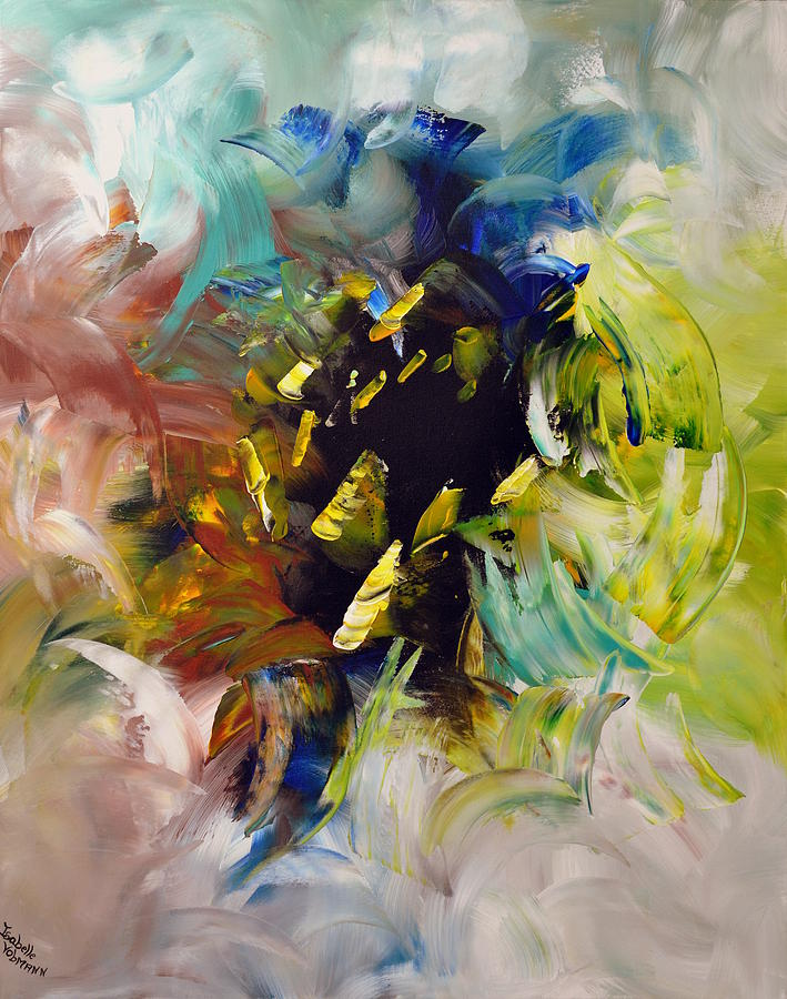 Abstract Painting - La Palette Enchantee by Isabelle Vobmann