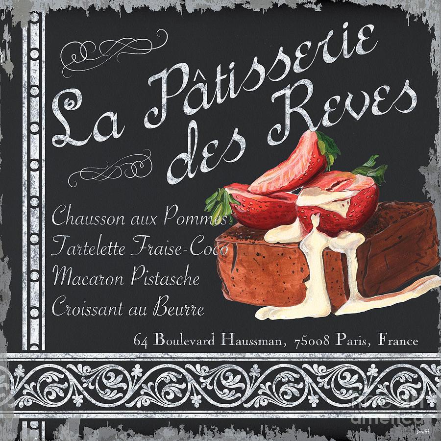 Patisserie Painting - La Patisserie by Debbie DeWitt