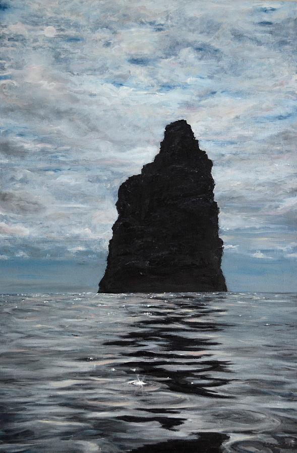 Hawaii Painting - La Perouse Pinnacle by Karen Strangfeld