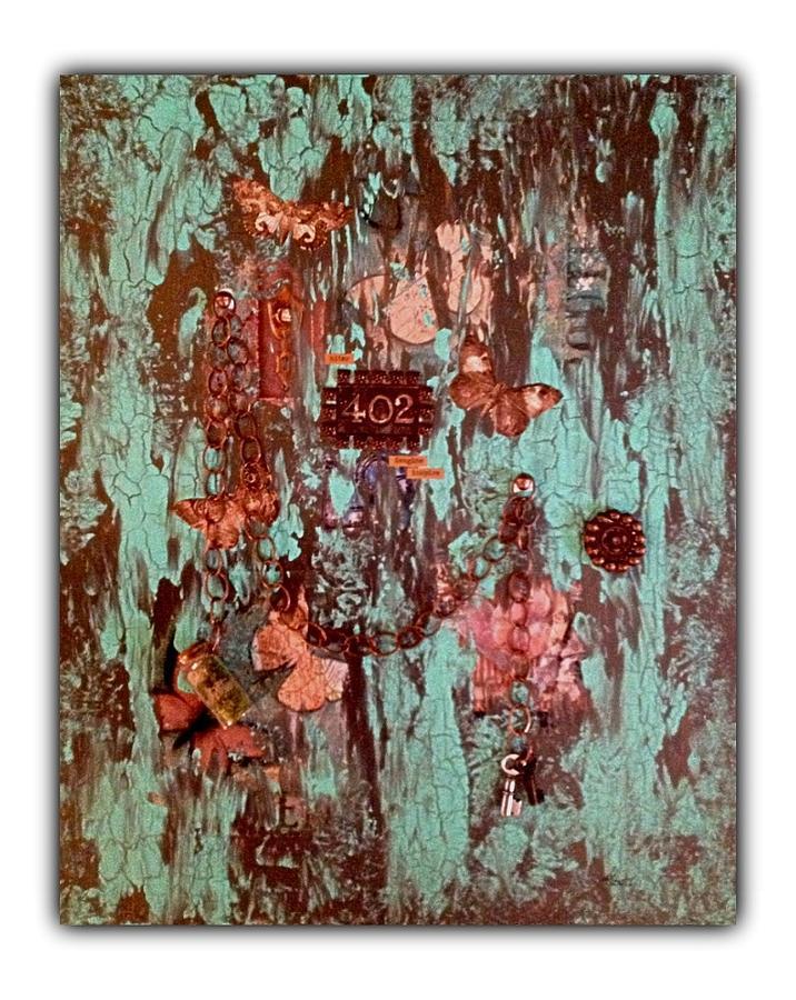 La Porte De Papillon Mixed Media by Schroder Konate
