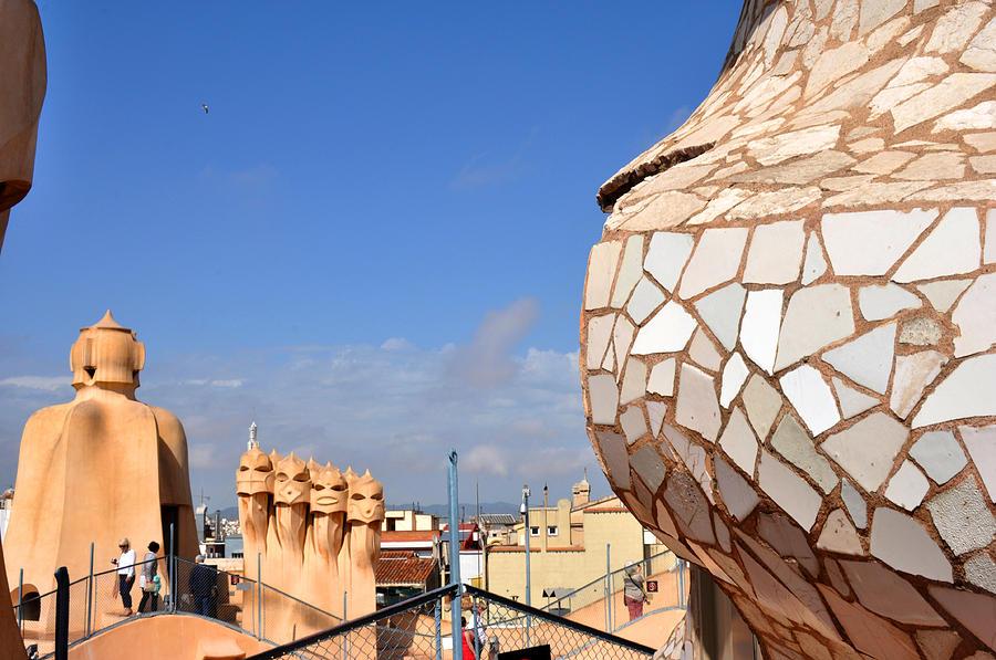 Barcelona Photograph - La Predrera Gaudi House Barcelona by Diane Lent