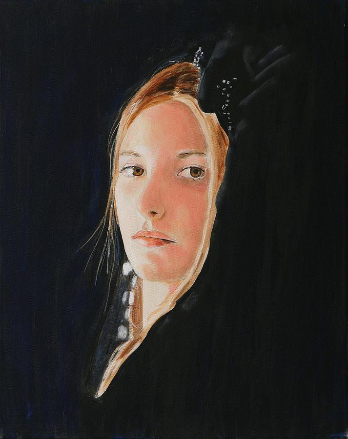Woman Painting - La Princesse Bleue by Jean-Paul Setlak