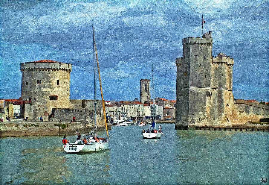la rochelle charente maritime france painting by peter ford. Black Bedroom Furniture Sets. Home Design Ideas