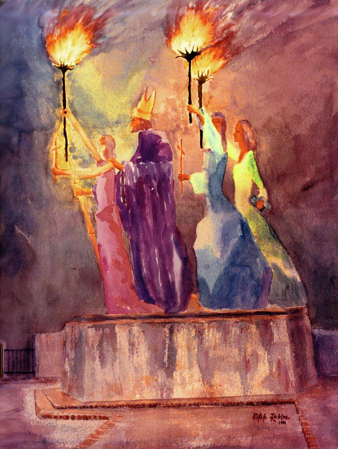 Old San Juan Prints Painting - La Rogativa San Juan Puerto Rico by Estela Robles