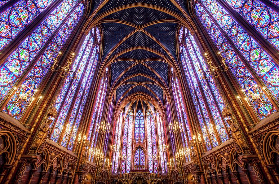 La Sainte-chapelle Upper Chapel, Paris Photograph by Joe Daniel Price