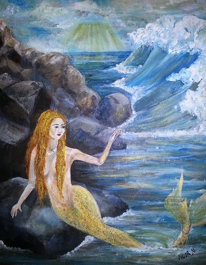 Del Painting - La Sarina Del Mar by Noor Moghrabi