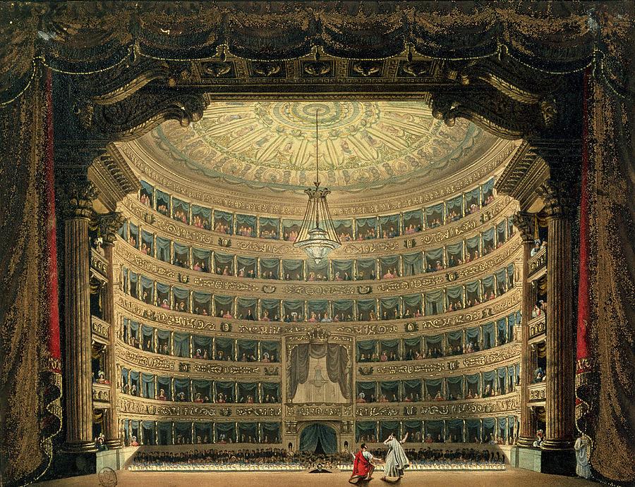 La Scala Painting - La Scala, Milan, During A Performance by Italian School