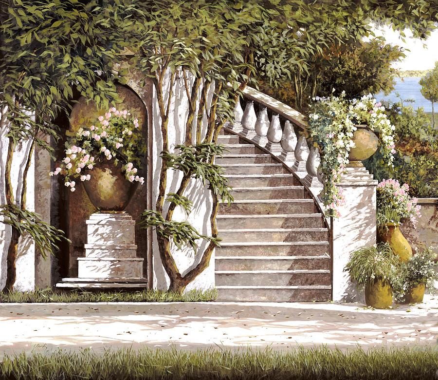 Stairs Painting - La Scalinata by Guido Borelli