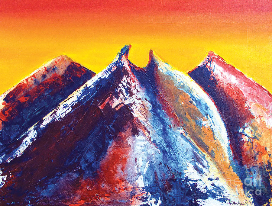 Mountains Painting - La Silla Energy by Kandyce Waltensperger