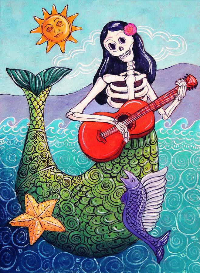 Dia De Los Muertos Painting - La Sirena by Candy Mayer