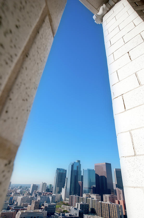 L.a. Skyline From Los Angeles City Hall Photograph by Alexandre Fp