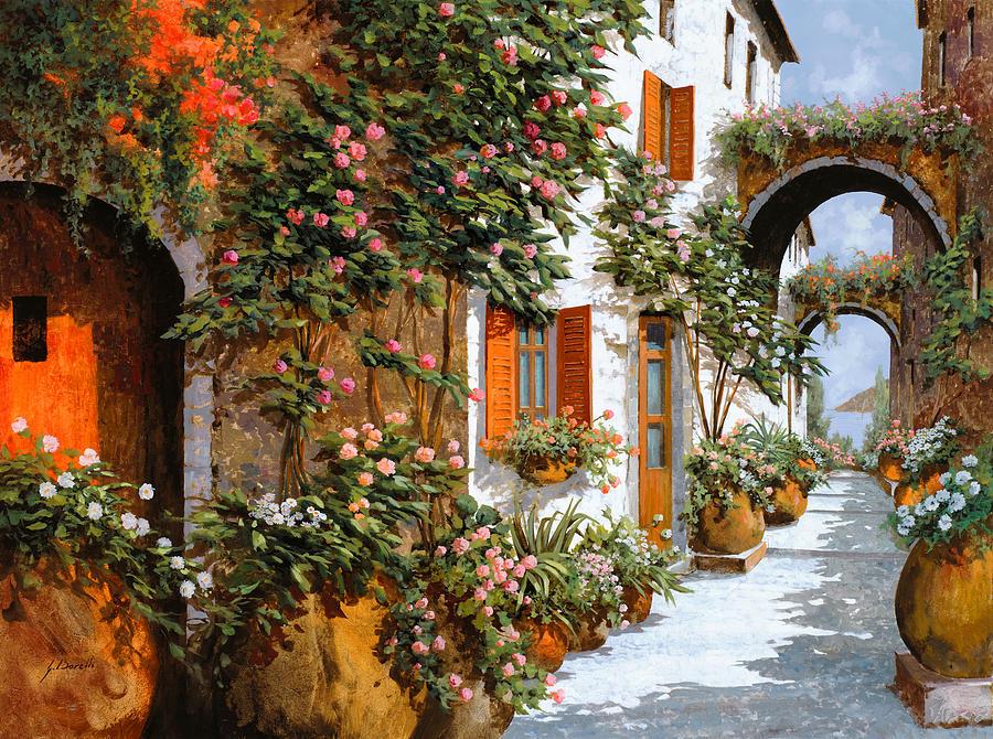 Arch Painting - La Strada Al Sole by Guido Borelli