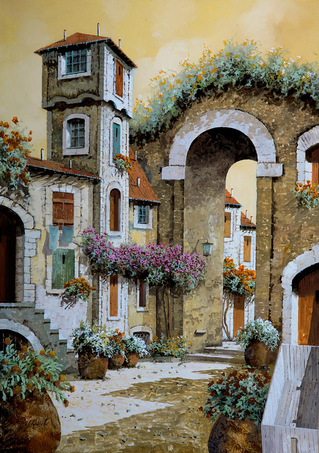 Tower Painting - La Torre by Guido Borelli