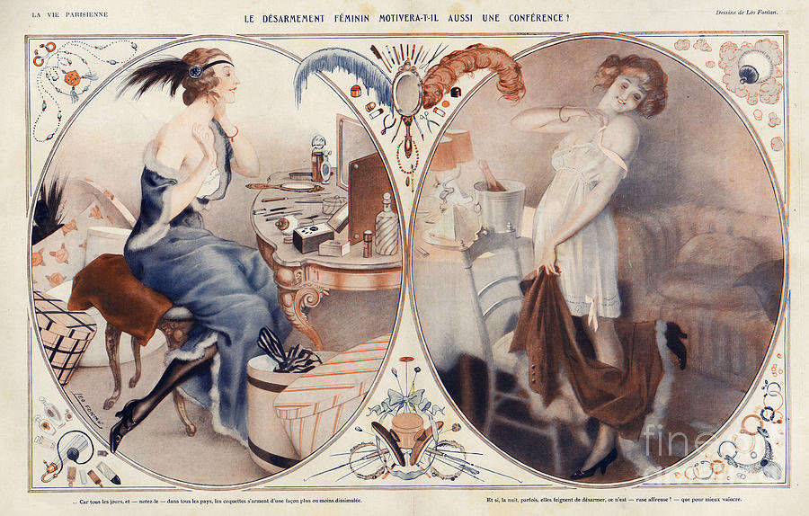 French Drawing - La Vie Parisienne 1922 1920s France Leo by The Advertising Archives